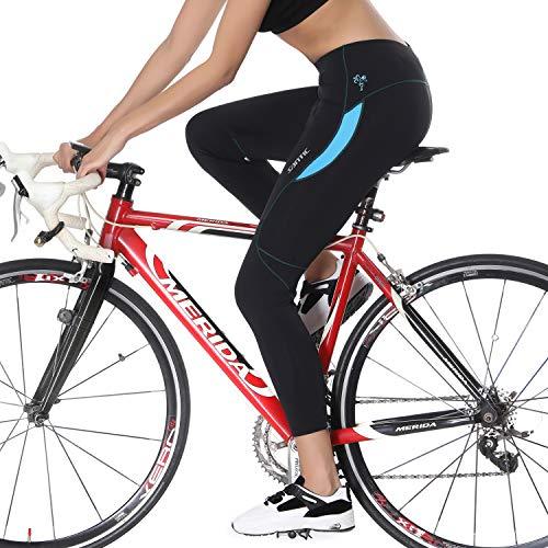 Santic Fahrradhose Damen Gepolstert Lang Radhose Damen Lang Radlerhose Damen Gepolstert auch für MTB Blau EU M - 7