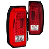 Spec-D Tuning Red Lens LED Bar Tail Lights for 2015-2018 GMC Yukon Xl Taillights Assembly Left + Right Pair