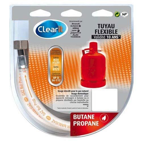 TUYAU GAZ BUTANE 2M POUR INSTALLATION CLEARIT - 75S2706