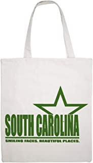 SOUTH CAROLINA New double - sided printed pure white single-shoulder Martin canvas carrier bag