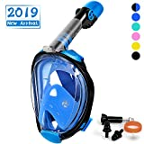 OUSPT Full Face Snorkel Mask, Snorkeling Mask with Detachable Camera Mount, Panoramic 180° View Upgraded Dive Mask with Newest...