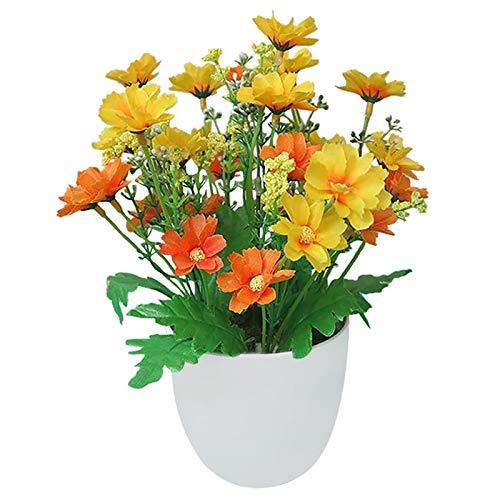SHIJING Künstliche Blumen helle Farbe lebensechte Chrysantheme gefälschte Pflanzen Topfpflanzen Hauptdekorationen