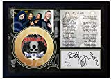 SGH SERVICES Metallica - Póster enmarcado de vinilo dorado con texto en inglés 'Nothing Else Matters'