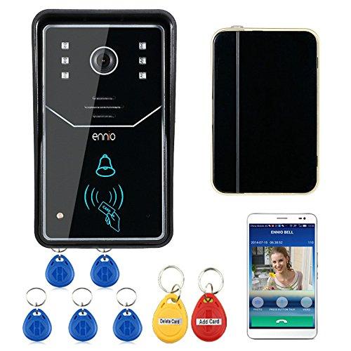 Touch Key WiFi DoorBell Videoportero inalámbrico Home Intercom System IR RFID Camera Support Teléfono inteligente P2P acceso remoto