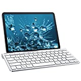 Fintie Gigapower Multi-Device Universal Wireless Bluetooth Keyboard with Foldable Stand for iPad Samsung Surface Tablet Smartphone PC MacBook, iOS, Android, Windows Tablets Phone, Silver