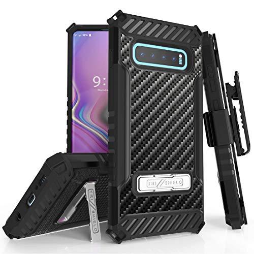 galaxy s10 plus shockproof kickstand case