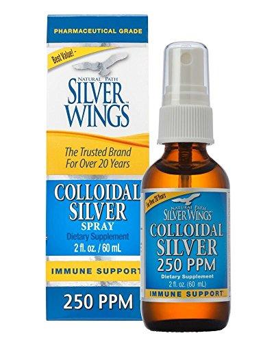 Natural Path Silver Wings Colloidal Silver 250PPM, 2oz Spray TOP (CS1S)