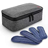 ALLCAMP Insulin Cooler Travel Bag for Diabetic Organize Medication with 4 Ice Packs (TPU)