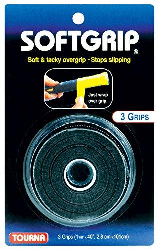 Tourna SoftGrip Tennis Overgrip, Black (STG-BK)