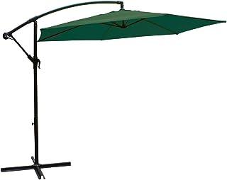 comprar comparacion AKTIVE Garden 53886 Parasol excéntrico Banana, diámetro 270 cm, verde mástil aluminio