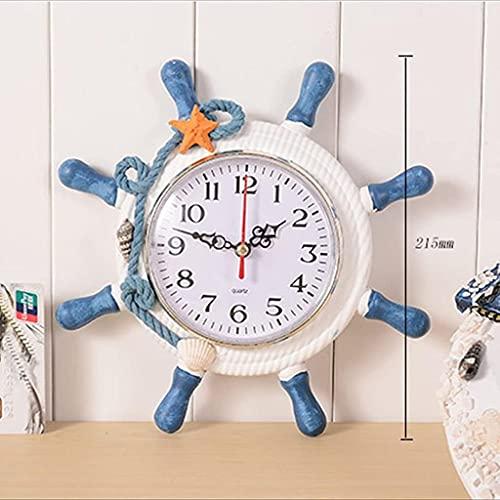 reloj de pared Reloj de pared de madera digital Rudón náutico Rojón de pared No hay garrapata y mute Reloj de pared grande Dormitorio de la oficina Dormitorio de la oficina Reloj de decoración Decorac