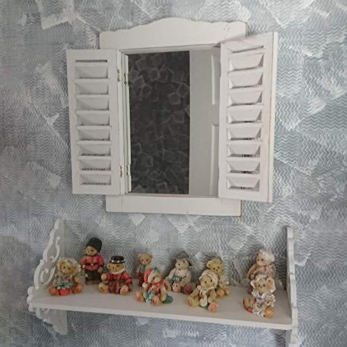 HomeZone - Specchio da parete in legno, stile vintage shabby...