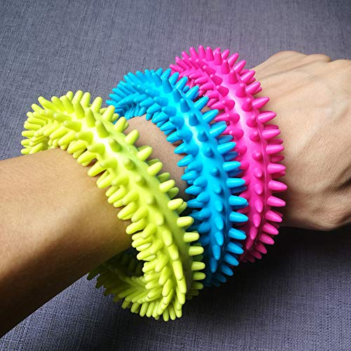 Stress Relief Fidget Bracelet Spiky Sensory Fidgit Toy for Autism Message Ring Toys Stress Rings for Children and Adults