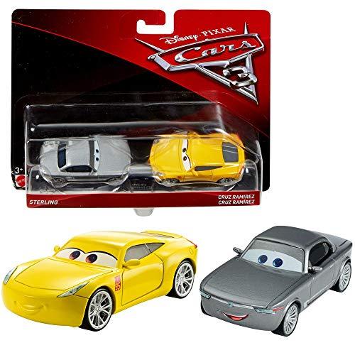 Doppelpack Modelle Auswahl | Disney Cars 3 | Cast 1:55 Fahrzeuge Auto | Mattel, Typ:Sterling & Cruz Ramirez