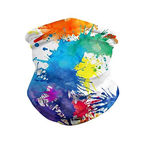 BAJIE Máscara de Halloween Cosplay de Halloween Máscaras de Color 3D Graffiti...