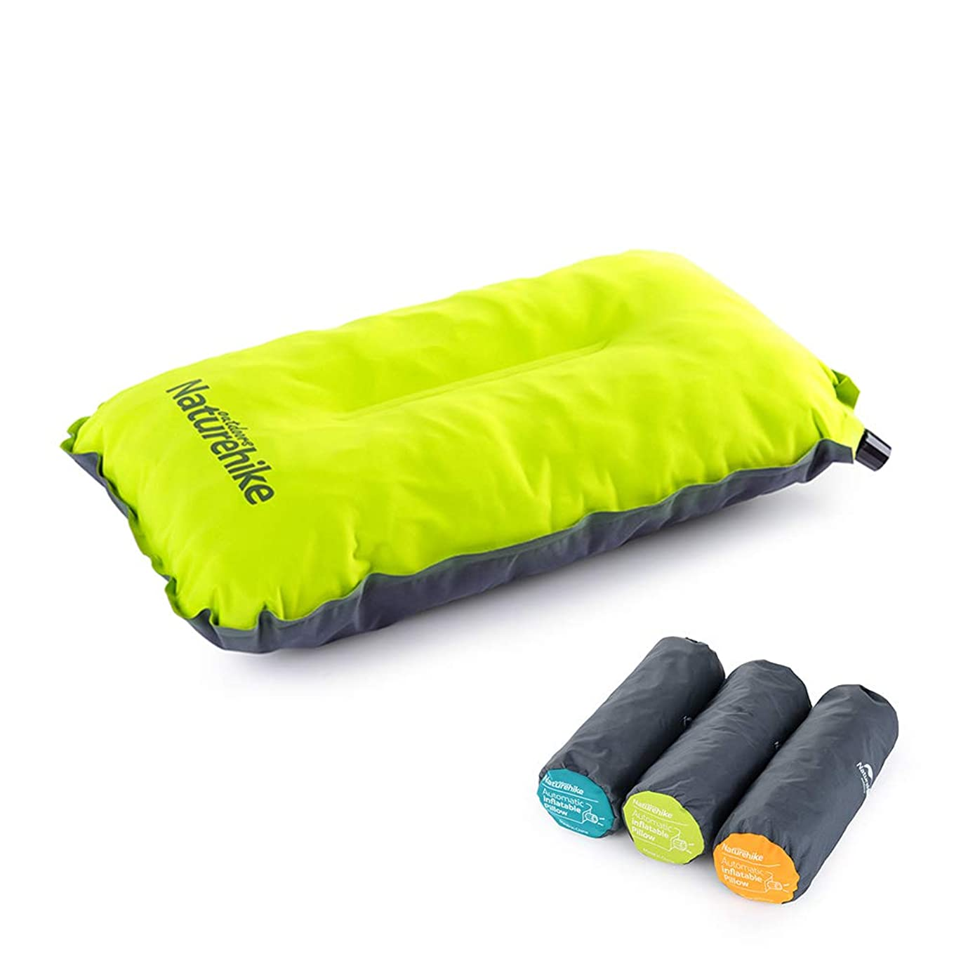 ベットエアコンクローンNatureHike 自動インフレーターピロー 超軽量インフレータブル 枕 トラベルアウトドア枕 キャンプ用品 収納袋付き