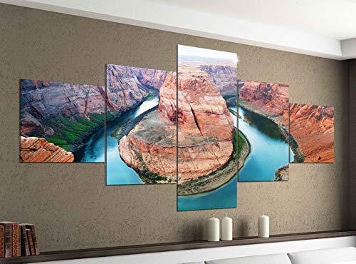 Acrylglasbilder 5 Teilig 200x100cm Horse Shoe Bend Grand Canyon USA Druck Acrylbild Acryl Acrylglas Bilder Bild 14F864