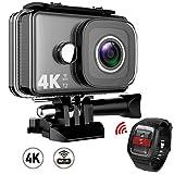 TEC.BEAN 4K Action Cam 2 Zoll Bildschirm WLAN 14 MP Wasserdichte kamera bis zu 45M UnterwasserKamera...