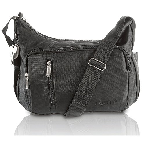 Crossbody Bags for Women Nylon Lightweight Travel Purse Multi Pocket Shoulder Bag Handbags