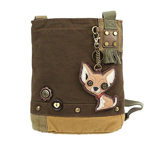 Chala Patch Damen Handtasche Umhängetasche dunkelbraun, Braun (dunkelbraun), Einheitsgröße
