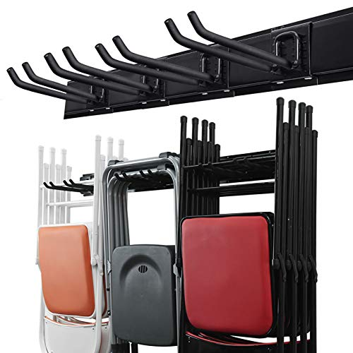 Wallmaster Garage Storage Tool Organizer System Heavy Duty Tools Wall Mount Rack Hanger with 6 Hooks 48inch Tracks Max Load 265lb