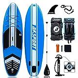 AKSPORT Tabla de surf de remo hinchable de 10,6 pulgadas, 320 x 81 x 15 cm,...