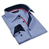 Mens Shirts-Dress Shirts - 100% Cotton Long Sleeve- Buttoned Down Shirts - Contemporary Fit