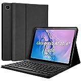Funda con Teclado Samsung Tab A7 10.4'' 2020, Español Ñ Teclado Wireless Bluetooth Magnético para Galaxy SM Tab A7 2020 T500 T505 T507, Cubierta Estuche con Samsung Tab A7 10.4 2020-Negro