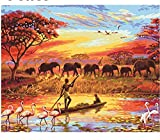 GAGALAM Puzzle Adulto 1000 Piezas.Elefante Africano De La Selva.Le Dos Du Signe De Lettre, Grille En Bois De Partition, Juste Pour Mieux Casse-Tête