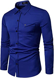 Metermall Shirt Casual Long Sleeve Shirt Mens Long Sleeve Formal Casual Suits Slim Fit Dress Shirts