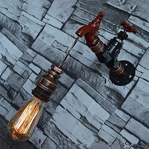 Lámpara de pared Retro Aplique, Vintage Steampunk Industrial ligero de la pared grifo de agua creativo lámpara de pared de tubo aplique agua for Bar Restaurante Cafetería Corredor, E27 zócalo MAX 40W