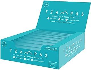 TZAMPAS Choco - Clean Eating Energieriegel aus gerösteter Gerste mit Choco Geschmack - Vegan - Bio 16er Box 16 Stück à 40 g