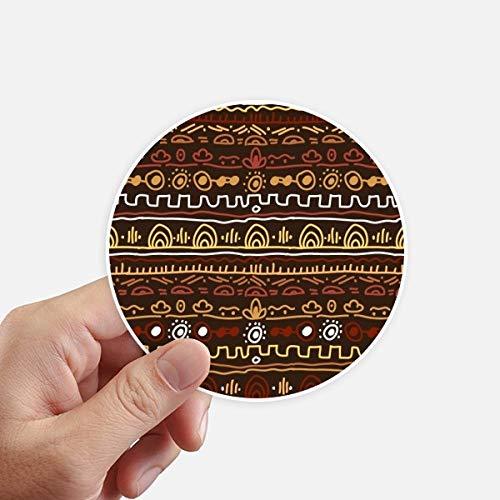 DIYthinker Afrique Primitive Style autochtone Tribal Autocollants 10CM Mur Valise pour Ordinateur Portable Motobike Decal 8Pcs diamètre 10cm Multicolor