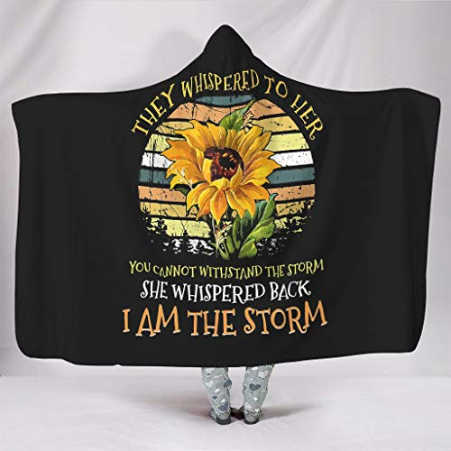 Dogedou They Whispered to her you cannot Withstand The Storm she whispered back i the Storm Sunflower knuffeldeken, super sofa, stoel bed, kantoor, reizen, camping deken