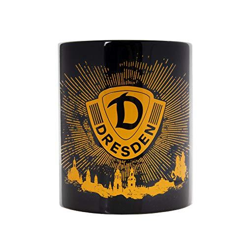 SG Dynamo Dresden Kaffeetasse Strahlen schwarz