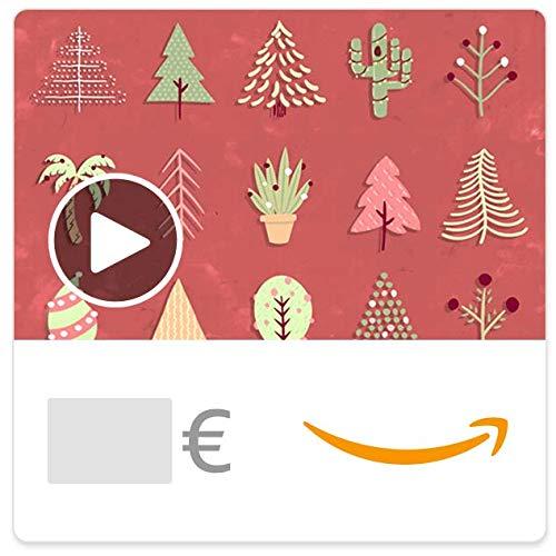 Digitaler Amazon.de Gutschein mit Animation (Weihnachtsbäume)