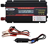 GQLB auto convertitore Car Power Inverter, onda sinusoidale modificata Inverter Car Charger 1000W 12V / 24V a CA 110V / 220V di alimentazione continua, auto Inverter, mira Inverter Camping, USB Chargi