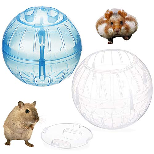 FANDE Hamster Übungs Ball, 2PCS Hamster Laufball Übungs Ball Hamster Minilauf Überübungs Rolle Ball,12cm