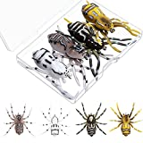 4 Pieces Phantom Spider Weedless Fishing Lure Soft Rubber Fishing Lures Hooks Fishing Artificial Bait Realistic Spider Swimming Lures for Freshwater Saltwater Fishing, 1.9 Inch Length Weighs 0.2 oz
