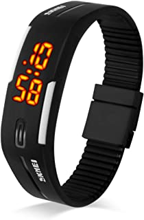 Sport Watch, TOOCAT Fashion LED Digital Watch Outdoor 30M Waterproof Rubber Bands Wristwatch for Men Women Teens Students-...