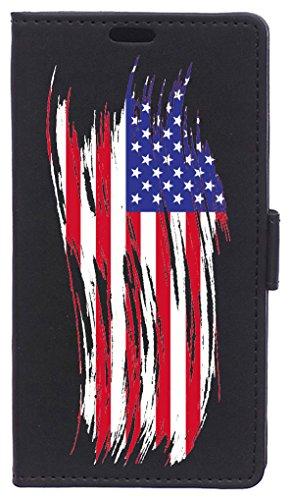 BeCool FOL-HT091 beschermhoes voor HTC One A9S, Vlag van de Verenigde Staten, Meerkleurig