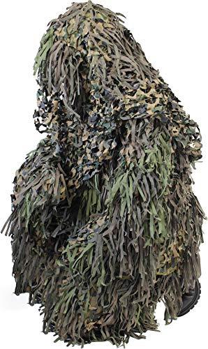 Tarnanzug Ghillie Suit Jackal (Jacke, Hose mit Hosenträgern und Kopfbedeckung) Farbe Wood-Land Größe M/L