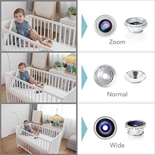 Monitor de bebé Infant Optics DXR-8Video con lentes ópticas intercambiables, blanco/beige