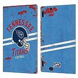 Head Case Designs Licenciado Oficialmente NFL Casco Distressed Look 100th Tennessee Titans Logo Art ...