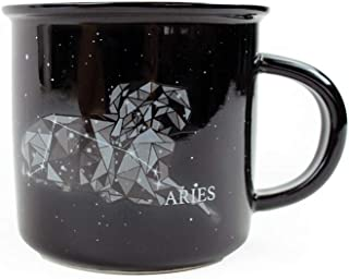 Stargazer ARIES Astrology Camp Mugs by Creature Cups   Ceramic Horoscope 13.5 Ounce Cups with Traits Revealed Inside   Bir...