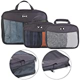 Semptec Urban Survival Technology Packbeutel: 3-teiliges Kompressions-Kleidertaschen-Set füs Reisegepäck, 2 Größen (Kofferorganizer)