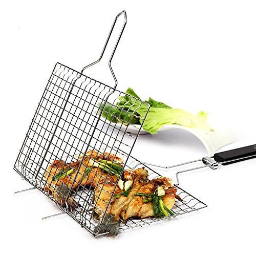 DECHO-C Grill-Clip-Ordner Fisch-Clip gegrillte Fisch Net Picknick Camping BBQ Supplies Braten Ordner Basket Tool Fleisch Fisch Gemüse BBQ-Tool