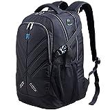 OUTJOY Laptop Rucksack 17,3 Zoll mit Regenschutz Durchlass für wasserdicht als Daypack für Buisiness schul Reisetasche für Männer and Frau Passend für Alle 17,3 Zoll schwarz by
