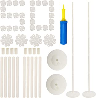 "Balloon Columns Arch - 2 Set Balloon Column Kit 61"" Height and 50Pcs Balloon Rings with Water Fillable Base Balloon Stand Kit"