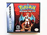 Pokemon Moemon Fire Red (with Case, Cover Art, and Game) Gameboy Advance GBA Game Boy